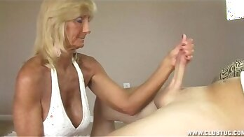 Granny Jerking Off For BF