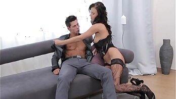 Naughty european girlfriend ass fucks on cam