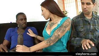 Cuckold cute wife interracial gangbang