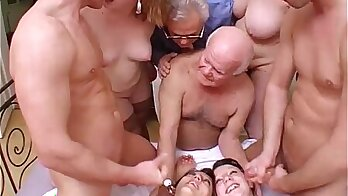 Crazy Kimberly hoping to get a big orgy with his friend with one of his parents