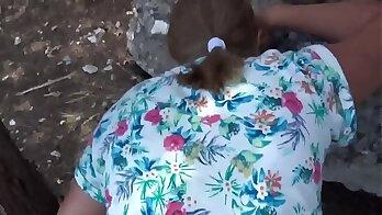 Round ass blonde BBW self cum sprayed and pov