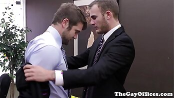 Innocent office playgirl seduces her willing boss