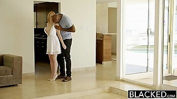 Blonde Accepted For Bathroom Sex by Black Boss