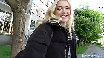 Blond student Mummy doggystyle pounded for huge money