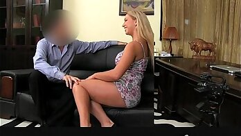 Casting accommodation film checking babe with natural tits
