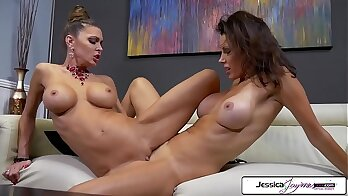 Sexy busty MILF Jessica Jaymes is taking a big cock in her wet hole