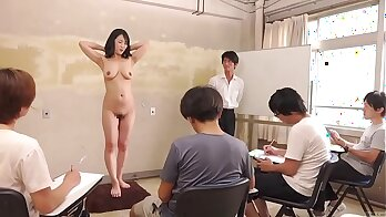 Japanese nude milf crying as her previous to sex