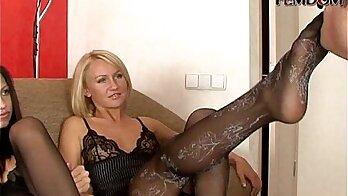 The Dominatrix Emma Fire Hard Mistress foot job