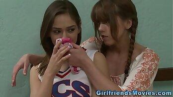 Sexy Cheerleader Latina Lesbians Teen Jenna Star And Lisa Moore Charmy Lee
