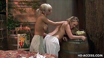 Crazy Blonde FuckAss lesbian action!