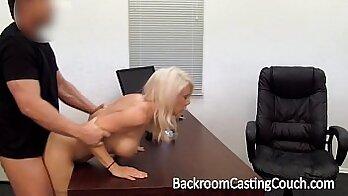 Big tits face fucked banged at casting