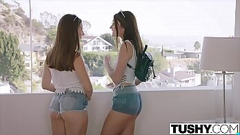 Alluring two naughty ladies close the cuffs
