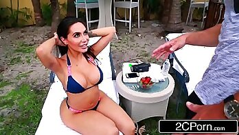 Barely Legal Busty Lela Star Gets Fucked By A Cock Stretched by Daddy on the Park Bench