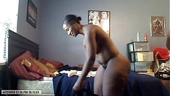 Black Milf on Webcam Fuck