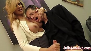 Big Tittied MILF Shows Off Big Breasts