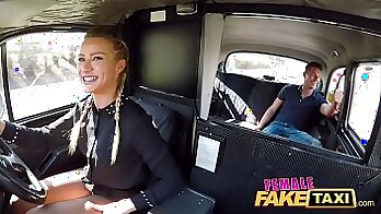 Blonde fucks taxi driver hungry for cock after rough holland ride