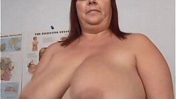 Busty Mature BBW titty fingering pussy