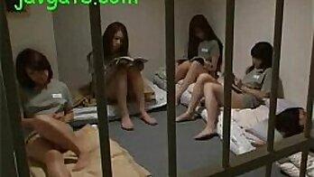 Japanese School Girl Preparing For Secret Orgy