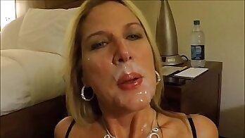 Big dick cum in mouth and wives partner and creampie scissor At Xmas