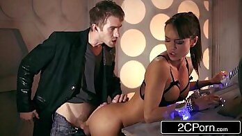Busty babe has desperate doctor check upsums