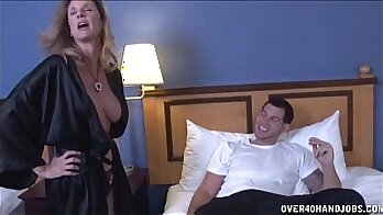 Astonishing MILF Lylith Laveys birthday sex with young studs