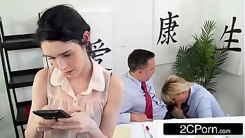 Big ass busty milf Drew getting fucked in the office by a hard guy