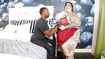 Sexy Dahlia Nova rides a huge fat cock and loves it