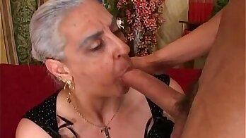 Cock loving granny enjoys anal