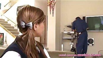 Attractive Asian Schoolgirl Fucking Charisma Michael Huge Dick