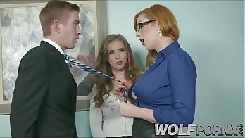 Boxed Ass Girl Seduced by Boss