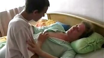 Young big dick sleeping mature