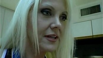 Blond mom tied and fingered by black guy